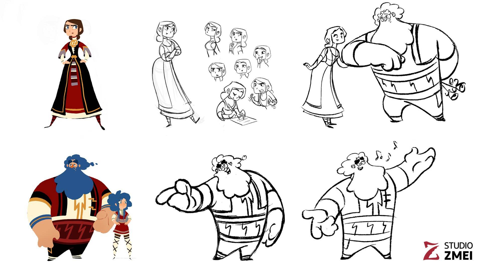 english character design 07 the golden apple studio zmei
