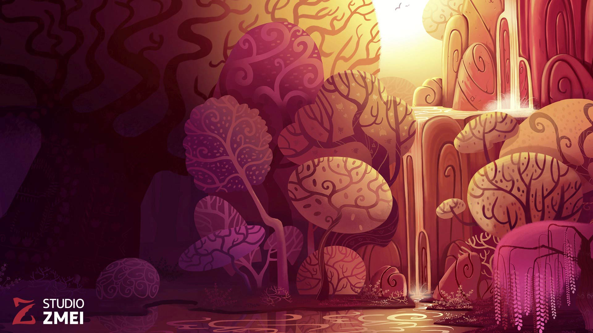 Background Design 10 - The Golden Apple