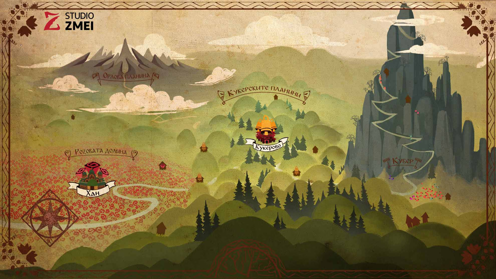 Background Design 09 - The Golden Apple